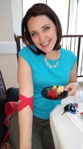 After I gave blood...with my fruit.