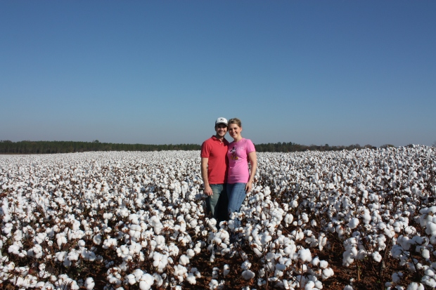 Our second Christmas card. We thought we were so original with the cotton field idea...come to find out pretty much everyone who lives here does this. It's basically a right of passage to GA living.